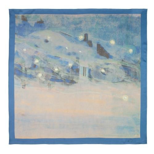"Silk scarf M. K. Čiurlionis ""Sparks III """