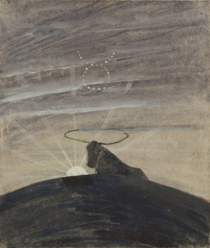 """M. K. Čiurlionis. Saulė eina Jaučio ženklu. IV iš 12 paveikslų ciklo """"Zodiakas"""""""