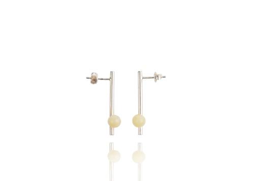 "Ketri Amber Jewelry auskarai ""Delicate"" No8"