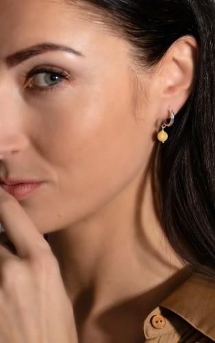 "Ketri Amber Jewelry auskarai ""Sun drops"" No4"