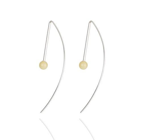 "Ketri Amber Jewelry auskarai ""Sun drops"" No7"