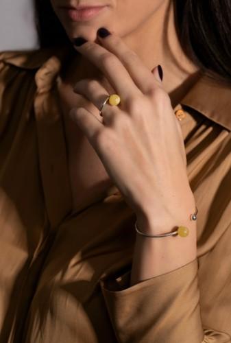 "Ketri Amber Jewelry žiedas ""Full moon"" No2"