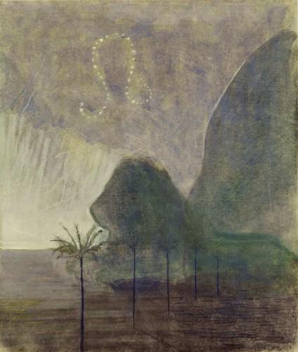 """M. K. Čiurlionis. Saulė eina Liūto ženklu. VII iš 12 paveikslų ciklo """"Zodiakas"""""""