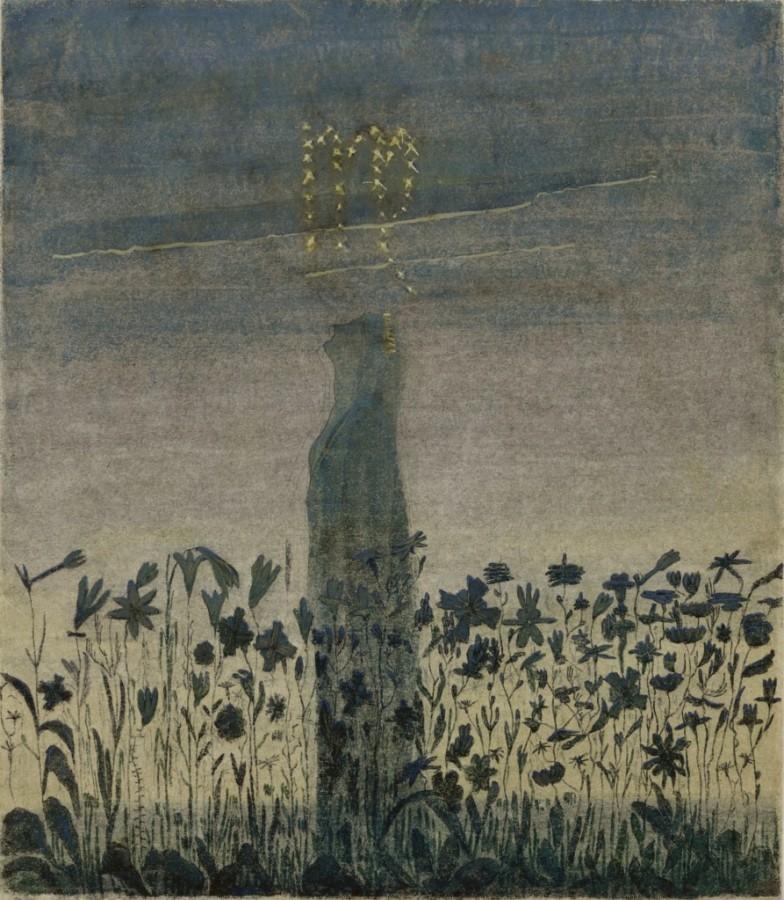 """M. K. Čiurlionis. Saulė eina Mergelės ženklu. VIII iš 12 paveikslų ciklo """"Zodiakas"""""""