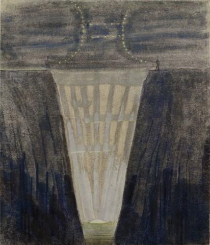 """M. K. Čiurlionis. Saulė eina Dvynių ženklu. V iš 12 paveikslų ciklo """"Zodiakas"""""""