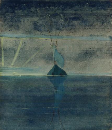 """M. K. Čiurlionis. Saulė eina Ožiaragio ženklu. XII iš 12 paveikslų ciklo """"Zodiakas"""""""