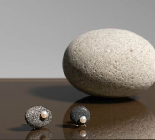"Minimal line auskarai ""Salty water"" 0013"