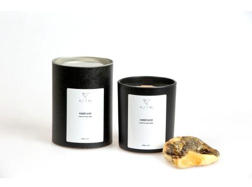 """Sojų vaško žvakė """"Amber noir"""", 300ml"""