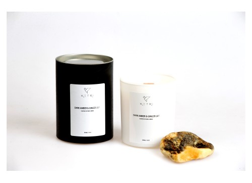 """Sojų vaško žvakė """"Dark amber & Ginger lily"""", 300ml"""